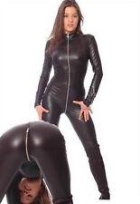 New 7Colors Metallic lycra Zentai Discowear Zip Up Wear Catsuit Bodys suit S-XXL