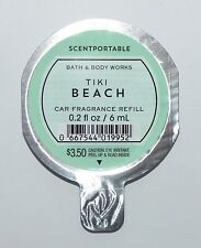 1 NEW BATH & BODY WORKS TIKI BEACH SCENTPORTABLE FRAGRANCE CAR REFILL FRESHENER