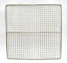 BBQ Square Stainless Steel Steak Fish Cooking Grill Grid Grate Basket 13""