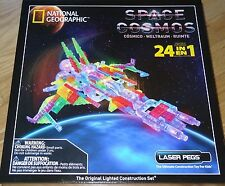 Space Cosmos National Geographic Laser Pegs Lighted Construction Toy Brick Block