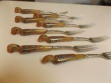 Haddad Jezzine Cutlery - Sterling Silver Dinner Forks -1940-50s - Golden Phoenix