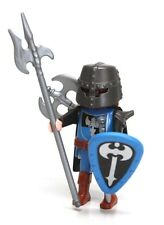 Playmobil Figure Castle Knight w/ Helmet Axes Sword Shield Cape 5972