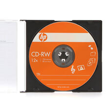 SPECIAL! 10 HP Brand Logo Top CD-RW ReWritable 12X Blank Disc with Paper Sleeves