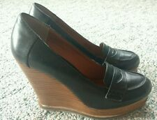 Lucky Brand Wedge Loafers, Black 8m