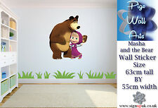 Masha and the bear autocollant mural enfants chambre mur decal