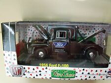 M2 MACHINES - WILD-CARDS - 1956 FORD F-100 TOW TRUCK / SNOW PLOW - 1/64 DIECAST