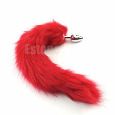 New Love RED Faux Fur Tail Butt Anal Plug Sexy Romance Sex Funny Adult Sex Toys