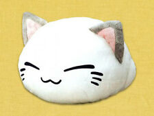 Nemuneko 12'' White with Gray Ears Sleeping Cat Plush Embroidered Mouse NEW