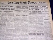 1941 JANUARY 24 NEW YORK TIMES - LINDBERGH SEES STALEMATE URGES PEACE - NT 1516