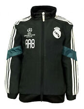 BOYS 3 4 years Adidas REAL MADRID Woven Tracksuit Top Football Jacket Kids Black