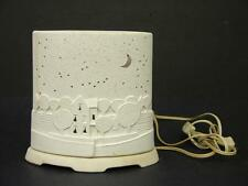 "1960s Starry Night Modern Porcelain Bisque Night Light 7 3/4 x 8 x 4 1/2"" Canada"