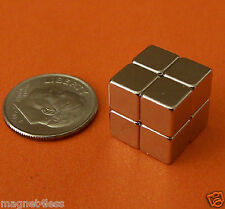 "32 Strong 1/4"" Neodymium Rare Earth Cube Magnets Grade N42"