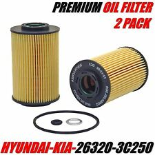 2 Engine Oil Filter HYUNDAI / KIA Fits Equus Genesis Borrego Sedona Sorento etc