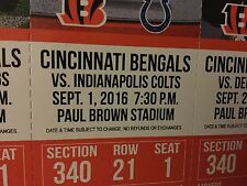 Cincinnati Bengals vs Indianapolis Colts Tickets 09/01/16 (Cincinnati)