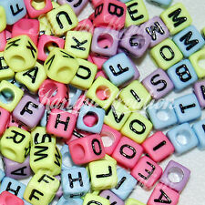 200 Pastel Rainbow bright 6mm alphabet letter pony beads For Rave Kandi 100+