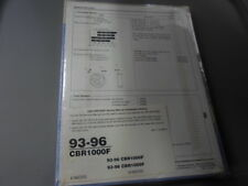 NOS Honda Factory Maintenance Shop Repair Service Manual 93-96 CBR1000F 61MZ202