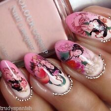 Nail Art Water Decals Transfers Wraps Decoration Floral Geisha Girls Japanese