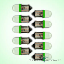 (10 Pack) - 6.3 Volt LED Bulb Frosted 44/47 Bayonet Base (BA9S) Pinball - GREEN