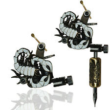 WHITE SCORPION PROFESSIONAL TATTOO MACHINE for power supply gun clip cord