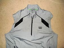 ADIDAS CLIMAPROOF WIND BRCC MEMBER GOLF VEST GRAY BLACK MEDIUM POLYESTER USED