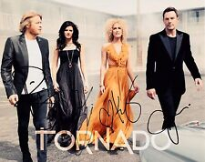 LITTLE BIG TOWN FULLY SIGNED 10x8 PHOTO - Tornado/Pain Killer