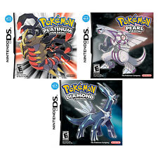 Nintendo DS Pokemon Platinum, Diamond and Pearl Version Video Games Bundle