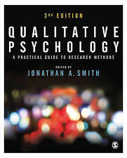 Qualitative Psychology: A Practical Guide to Research Methods, , New Condition