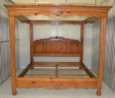 Ethan Allen Chateau Normandy King Canopy Bed Pine #17-5602
