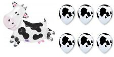 Cow And 6 Latex Cow Print Anagram Balloon Birthday Party Decorations