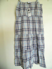 Girl's GAP Plaid  sun dress Sz 12 XL  Spagetti Strap
