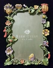 Beautiful Hobby Lobby 4×6 Photo Frame Brass Crystasl Flowers Butterfly Lady Bug