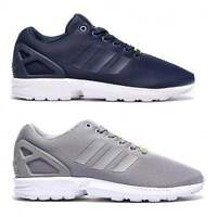 Adidas Originals Mens ZX Flux Trainers Sports Shoes Greyr And Navy  All Size