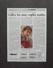 AF42 - Clipping-Ritaglio -1981- UN INSOLITO VILLENEUVE , INTERVISTA
