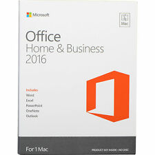 Microsoft Office 2016 for Mac - Home and Business Fast Digital Download