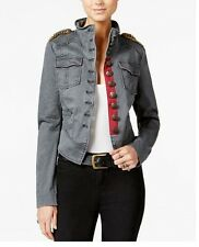 Free People  Shrunken Officer Military Jacket M NEW WITH TAGS BLACK/GREY $168