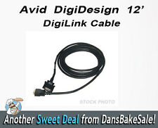 Black 12' Avid Digidesign DigiLink Male to Male Cable Use With Pro Tools - NEW