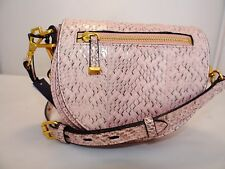 Rebecca Minkoff Small Astor Saddle Bag Cross body Embossed Leather Msrp 265.00