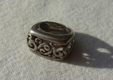 Vtg 925 Sterling Silver Ring NF Thailand Open Scroll Work Size 5