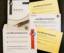LAST WILL AND TESTAMENT KIT,  NEW 2016 Edition, WITH FREE LEGAL HELPLINE.