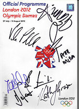 OLYMPIC PROGRAMME LONDON 2012 SIGNED BY 7 INC JESS ENNIS & VICTORIA PENDLETON