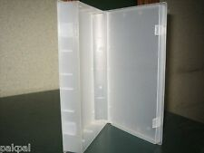 50 NEW CLEAR VIDEO CASE VHS LIBRARY CASE W/FULL SLEEVE PSV14