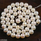 8-9mm White Freshwater Cultured Pearl Loose Bead 15""