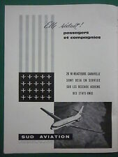 5/1962 PUB SUD AVIATION 20 CARAVELLE AIRLINER UNITED AIRLINES FRENCH AD
