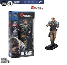 "GEARS OF WAR 4 JD FENIX 7"" inch ACTION FIGURE COLOUR TOPS BLUE MCFARLANE"