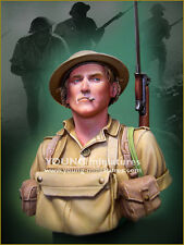 Young Mins British Tommy Soldier El Alamein WW2 YM1859 1/10th Bust Unpainted Kit