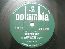 "THE MICKEY MOZART QUINTET DB 4308 INDIA INDIAN RARE 78 RPM RECORD 10"" GREEN VG"