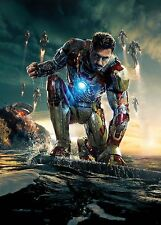 Iron Man 3 Movie Poster (24x36) - Robert Downey Jr., Gwyneth Paltrow v2 NEW