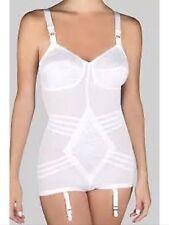 New! Rago Body Briefer 9051 All in one garters White 48C Nylon