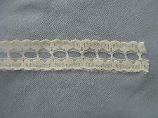 """WHITE SCALLOPED LACE W/OPENING IN THE CENTER FOR RIBBON,APPROX. 1-1/4"""" X 3 YARDS"""