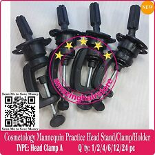 Cosmetology Mannequin Lace Wig Stand Training Practice Head Holder Stand Clamp-4